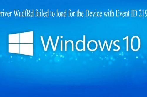 WudfRd failed to load error