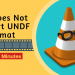 fixVLC does not support the UNDF issue